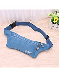 Buyworld Thinkthendo Fashion Men's Canvas Waist Pack Bag Pouch Belt Travel Hip Zipper Pocket