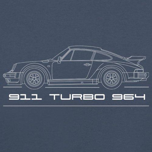 Seitenansicht Porsche 911 Turbo 964 (1975 - 1989) - Unisex Pullover/Sweatshirt - 8 Farben Navy