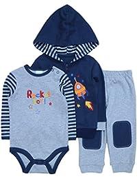 Conjunto 3 Piezas Bebé Chaqueta, Body, Pantalones 12M