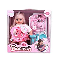 Basmah Baby Doll for Girls,32-69004E-PINK