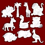 Bundle of 10 Cute Etched Jungle Themed Mirrors for Childrens Bedroom Decoration * SUMMER SALE *