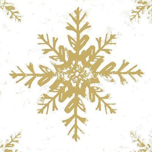 Flocons de neige de Noël dorés 3-ply 20 Papier Serviettes de table 13 \\
