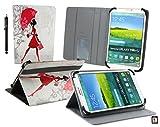 Emartbuy Winnovo M798 4G Tablet PC 7.85 Pollice Elegante Signora Angolo Multi Esecutivo Portafoglio Custodia Case Cover con Scomparti per Carte di Credito + Stilo
