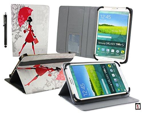 Emartbuy® BigBen Unity Tab 7 Tablet PC 7 Zoll Elegante Dame Multi Angle Exekutiv Folio Mappen Kasten Abdeckung mit Kartensteckplätze + Eingabestift