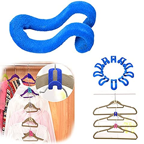 Bluelover 10Pcs Creative Mini Flocking Clothes Hanger Anti Slip Hook Closet Organizer