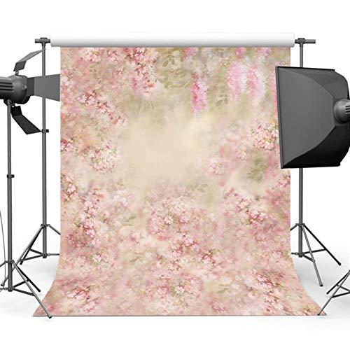 nd,Blumen Fotografie Hintergrund Baby Foto Hintergrund Für Fotografen Photo Booth Backdrops Studio@Polycotton-2.2X3M ()