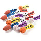 "1 Dozen 6"" Jet Sports Ball Missiles - Foam Jet Balls - Great For Party Favors"