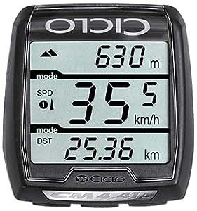 Ciclosport Drahtloser Fahrrradtacho mit Höhenmessung Cm 4.41a, Schwarz, 10104600