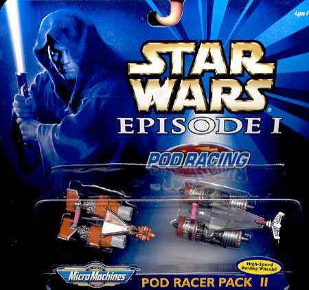 Galoob Star Wars Episode 1 Pod Racing 2 Pod Racer Pack II