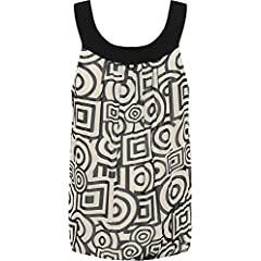 3e6d01dfb1960 Womens Plus Size Chiffon Floral Sleeveless Bubble Hem Pleated Vest Top  14-28 - Women s Plus Size Clothing