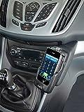 KUDA Telefonkonsole passend für: Ford C-Max / Grand C-Max ab 12/2010 Mobilia / Kunstleder schwarz