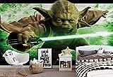 ForWall Star Wars Meister Yoda Fototapete Vlies Tapete Vliestapete Design Tapete Moderne Wanddeko Photo Wallpaper Mural 1590VEXL 208 cm x 146 cm TAPETENKLEISTER INKLUSIVE