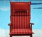 Hambiente XXL Stuhlauflage waschbar mit Reißverschluss, Nackenkissen extra dick ca. 10cm terracotta SKA71