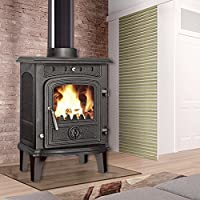 Lincsfire New Greetwell - 4.5KW Cast Iron Log Burner MultiFuel Wood Burning Stove WoodBurner