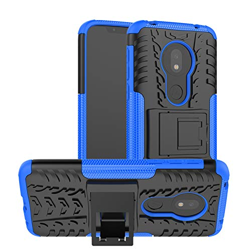 betterfon   Outdoor Handy Tasche Hybrid Case Schutz Hülle Panzer TPU Silikon Hard Cover Bumper für Motorola Moto G7 Play Blau Hybrid Tpu-hülle