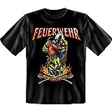 Feuerwehr - Wir retten Leben - Fun T-Shirt 100% Baumwolle - Größe S