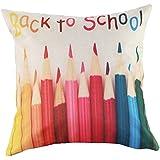 Housses de coussins avec dessins originaux géométriques colorés pour enfants Chambre Lit Sofa Chaise (sans garniture) 1