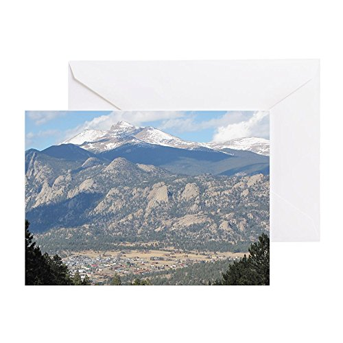 CafePress - Estes Park Colorado - Grußkarte, Notizkarte, Geburtstagskarte, innen blanko, glänzend - Estes Park, Colorado