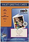 PPD DIN A5 Inkjet Premium Grußkarten Fotopapier für Tintenstrahldrucker beidseitig bedruckbar glänzend / matt 260g, DIN A5 gefalzt auf DIN A6 x 50 Karten PPD-50-50