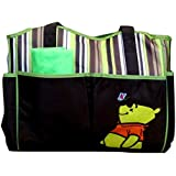 Baby Bucket Baby Diaper Nappy Changing Baby Bag Mummy Handbag Disney (Brown & Green Pooh)