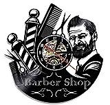 """Fait à la main Barber Shop horloges 12""""Vinyl record horloge murale-salon professionnel Decor pour les stylistes"""
