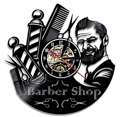 "Handgefertigte Barber Shop Uhren 12""Vinyl Record Wall Clock-Professional Salon Decor for Stylists"