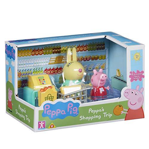 Peppa Pig - Cofanetto con 2 Personaggi e Accessori (Cucina Papa Pig o a Scelta, con Peppa e Rebbeca Rabbit), PPC45, Multicolore