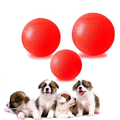 AZX Haustier Hund Vollgummi-Ball Bissfestes Elastisches Pet Ball Spielzeug für Große und Kleine Hunde Rot (Klein) (Rote Hund-ball)