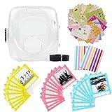 Jxe 7en 1Bundle Kit Accessoires pour Fujifilm Instax carré Sq10Camera–Lot de Coque de Protection Transparente, Sangle, Autocollant Boarder, Coin Autocollant, Dentelle Sacs