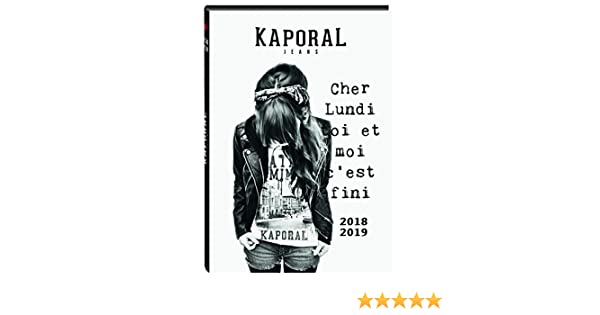 Oberthur 1 Agenda Journalier KAPORAL GIRL Août 2018 à