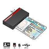 USB Chipkartenleser, Kartenleser für Personalausweis, kompatibel Windows 10/8/7 und Mac OS X -...