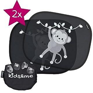 kids&me Premium Auto-Sonnenschutz mit TOP Saugnäpfen - Sonnenblende für Babys