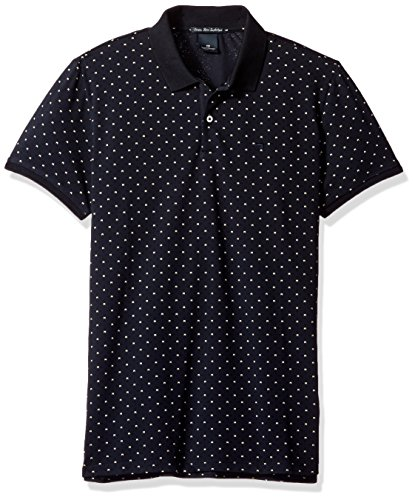 Scotch & Soda Herren Classic All Over Pattern-Polo-Hemd, Blau Blau
