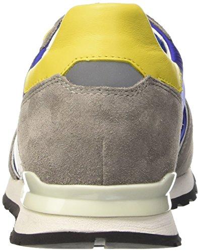 Nylon Scarpe Bikkembergs 650 Uomo Camoscio L Basse Giallo Blu grigio Mant In shoe M Multicolore qr8YwqU