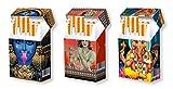 slipp overall - 3er SET - Designs: KALI | KRISHNA | GANESHA - Zigarettenschachtel Überzieher Hülle aus Karton - komplette Box mit Deckel - Standardgröße für die meisten L-Schachteln (näheres zur Größe s. Produktbeschreibung)