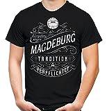 Mein leben Magdeburg T-Shirt | Freizeit | Hobby | Sport | Sprüche | Fussball | Stadt | Männer | Herren | Fan | M1 Front (XXL)