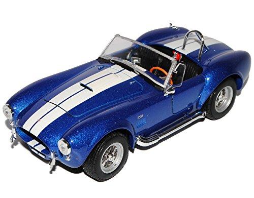Shelby 1965 427 Cobra Sc Blau Offen 1/24 Welly Modell Auto mit individiuellem Wunschkennzeichen 1965-spielzeug