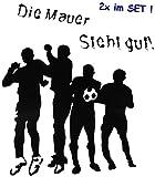 Unbekannt 10 TLG. Set _ große _ Fensterbilder -  Fußball - Die Mauer Steht gut !  - Sticker Fenstersticker Aufkleber - selbstklebend + wiederverwendbar - Fensterbild ..