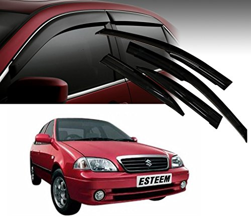Auto Pearl - Premium Quality Car Rain Wind Door Visor Side Window Deflector For - Maruti Suzuki Esteem - Set Of 4 Pcs  available at amazon for Rs.1199