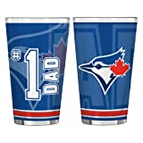 MLB Toronto Blue Jays #1 Dad Pint Glass Set (2-Pack), 16-Ounce