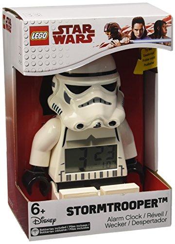 BulbBotz Star Wars 9002137 Sturmtruppler Kinder-Wecker mit Hintergrundbeleuchtung | weiß/schwarz | Kunststoff | 19 cm hoch | LCD-Display | Junge/ Mädchen | offiziell
