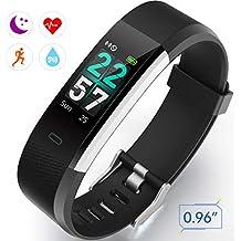 Pulsera de Actividad Pulsómetro Impermeable IP67 Pulsera Inteligente con Monitor de Ritmo Cardíaco Monitor de Actividad