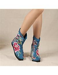 &qq Tradicional China nacional viento/viento/bordado/zapatos/la mujer de/confort/ocio/moda/las cuatro estaciones/otoño/invierno , blue , 39