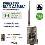 3G / 2G 16MP Full HD Wildkamera HC-550G 48 Black LED 0,5 Sek Trigger 120° Fotofalle Überwachungskamera 3G 2G GSM MMC SMTP SMS