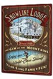 LEotiE SINCE 2004 Cartel Letrero de Chapa XXL Agencia De Viajes Vacaciones Choza del esquí