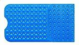 Diossad Badewannenmatte Blau Extra Langes Nicht Toxisches Vinyl Anti Rutsch Sicherheits Saugnapf Badematte