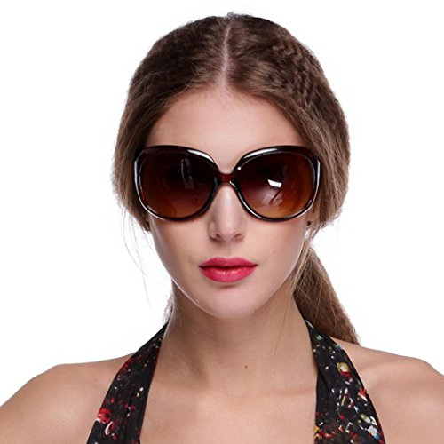 rokirs New Women\'s Retro Vintage Shades Fashion Oversized Designer Lens Sunglasses Outdoor Driving Eyewear Glasses Gafas de sol