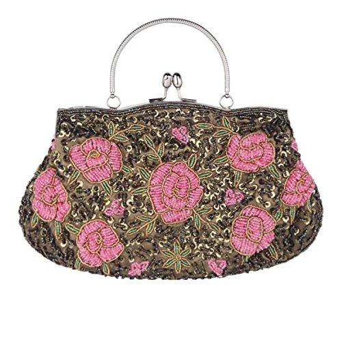 Frauen Retro Abendtasche Geldbeutel Handtasche Schultertasche I