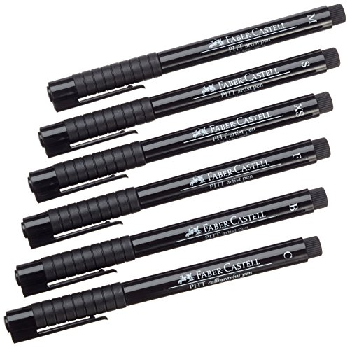 faber-castell-pitt-artist-pen-wallet-of-6-with-assorted-tips-black