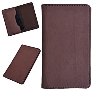DCR Pu Leather case cover for XOLO A700s (brown)